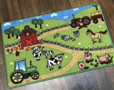 NON SLIP 50x80CM FARM MAT WASHABLE DOORMATS QUALITY LITTLE MATS TRACTOR MAT Pig